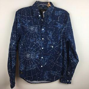10.Deep Newton Constellation Button Down Shirt NWT